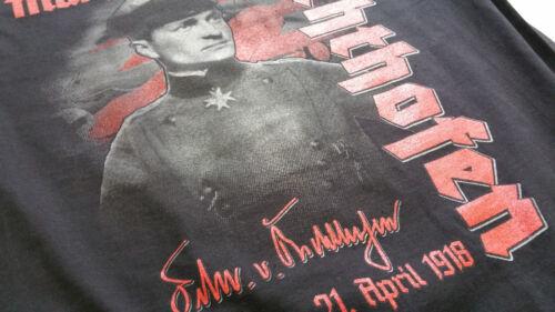 Roter Baron T-Shirt schwarz,Flying Circus,Richthofen,Focker D1,Albatros,1WK