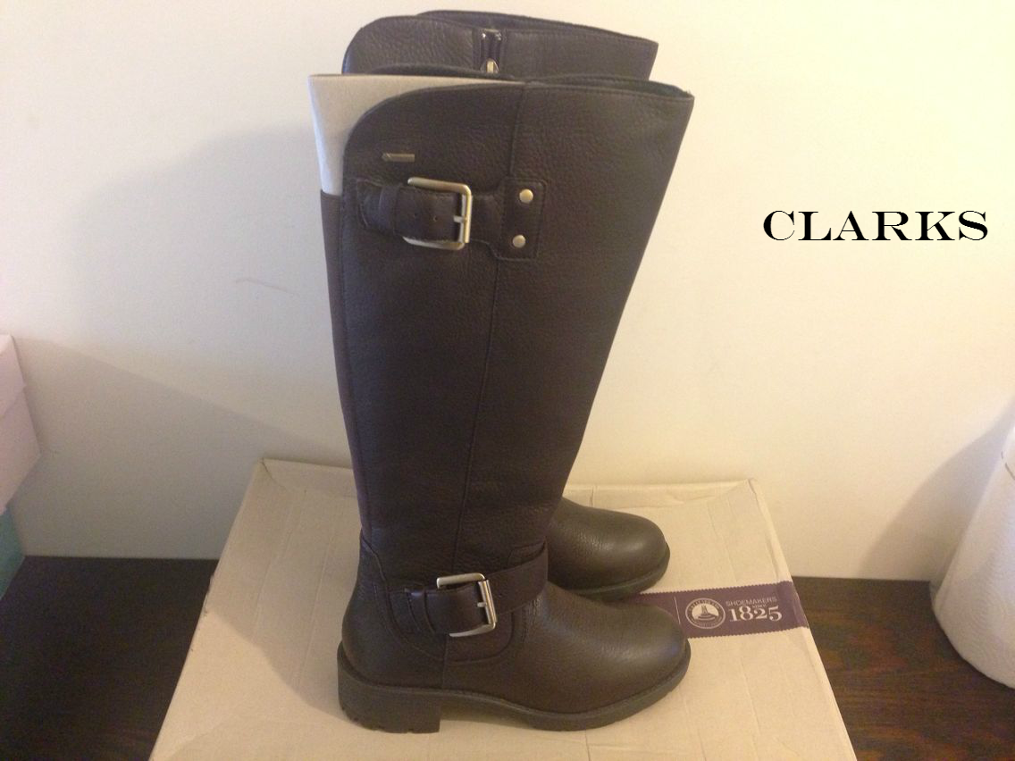 Clarks reunir Hi GTX Cuero Marrón Oscuro para Mujer botas botas botas Impermeable UK 4  envío gratis