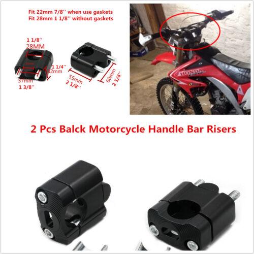 "Black Handle Fat Bar Mount Clamps Riser 7//8/"" Handlebar for Dirt Bike Motocross"