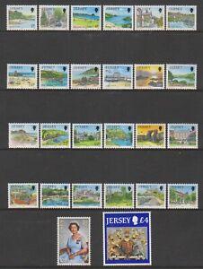 Jersey-1989-1p-Jersey-Scenes-Komplett-Set-Mit-26-MNH-Sg-468-91c