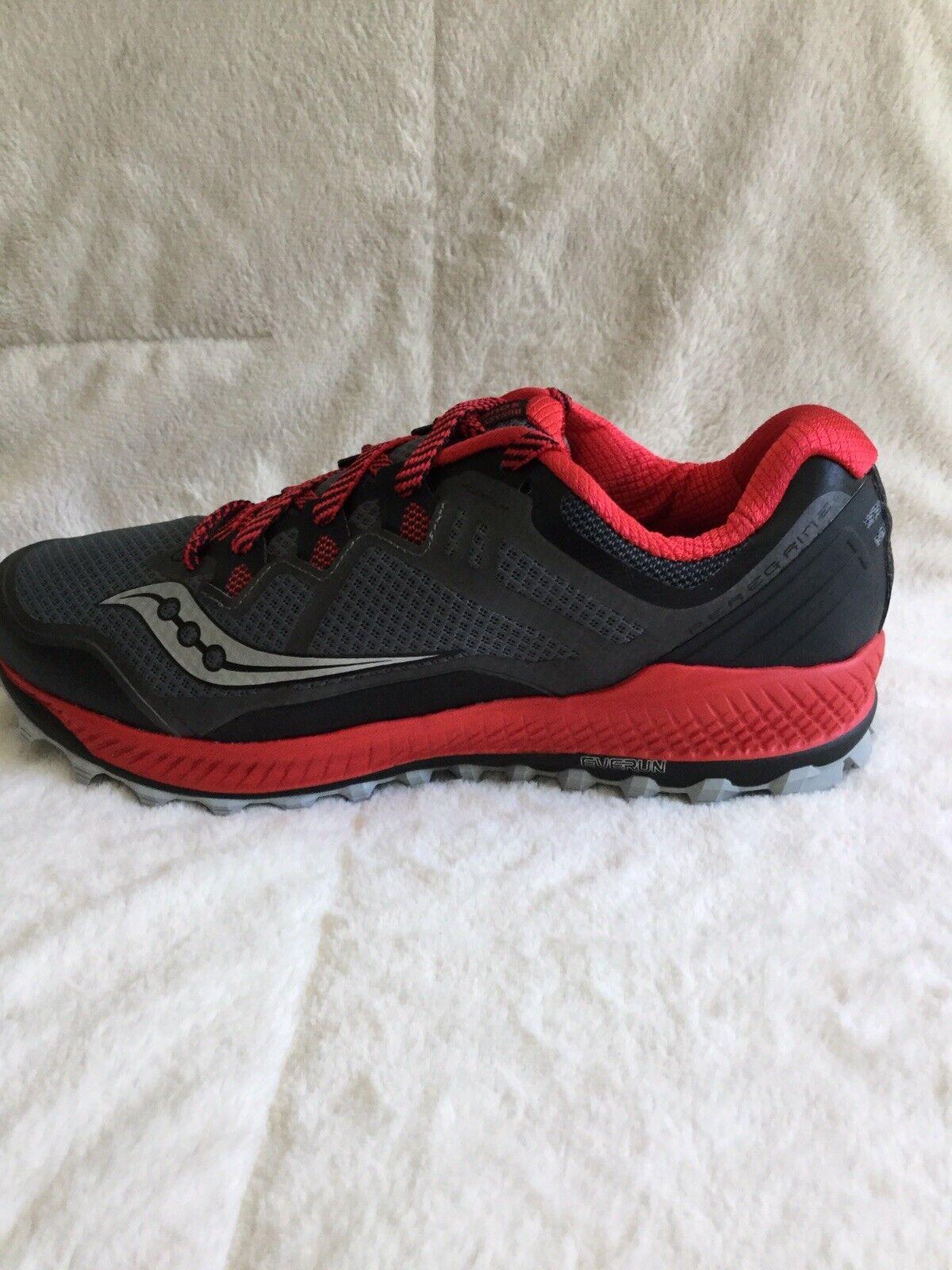 Saucony Peregrine 8 S20424-4 Para Hombre Trail Running Zapatos Negro Rojo Tamaño 10.5