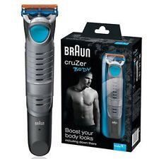 BRAUN Mens CruZer 5 BODY Groomer Cordless Rechargeable Electric Hair Trimmer NEW