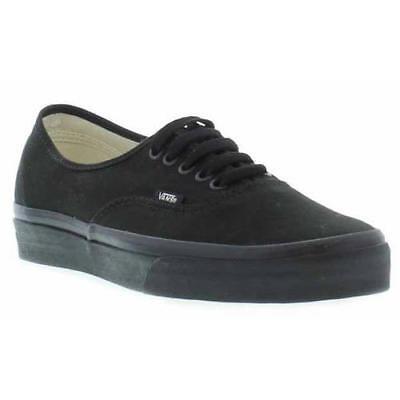 Vans Authentic Mens Womens Black White Canvas Skate Trainers Shoes Size UK 4-15