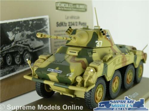 Sdkfz 234//2 Puma Tank Model 1:43 tamaño Militar Ejército 1944 ATLAS IXO alemán T3