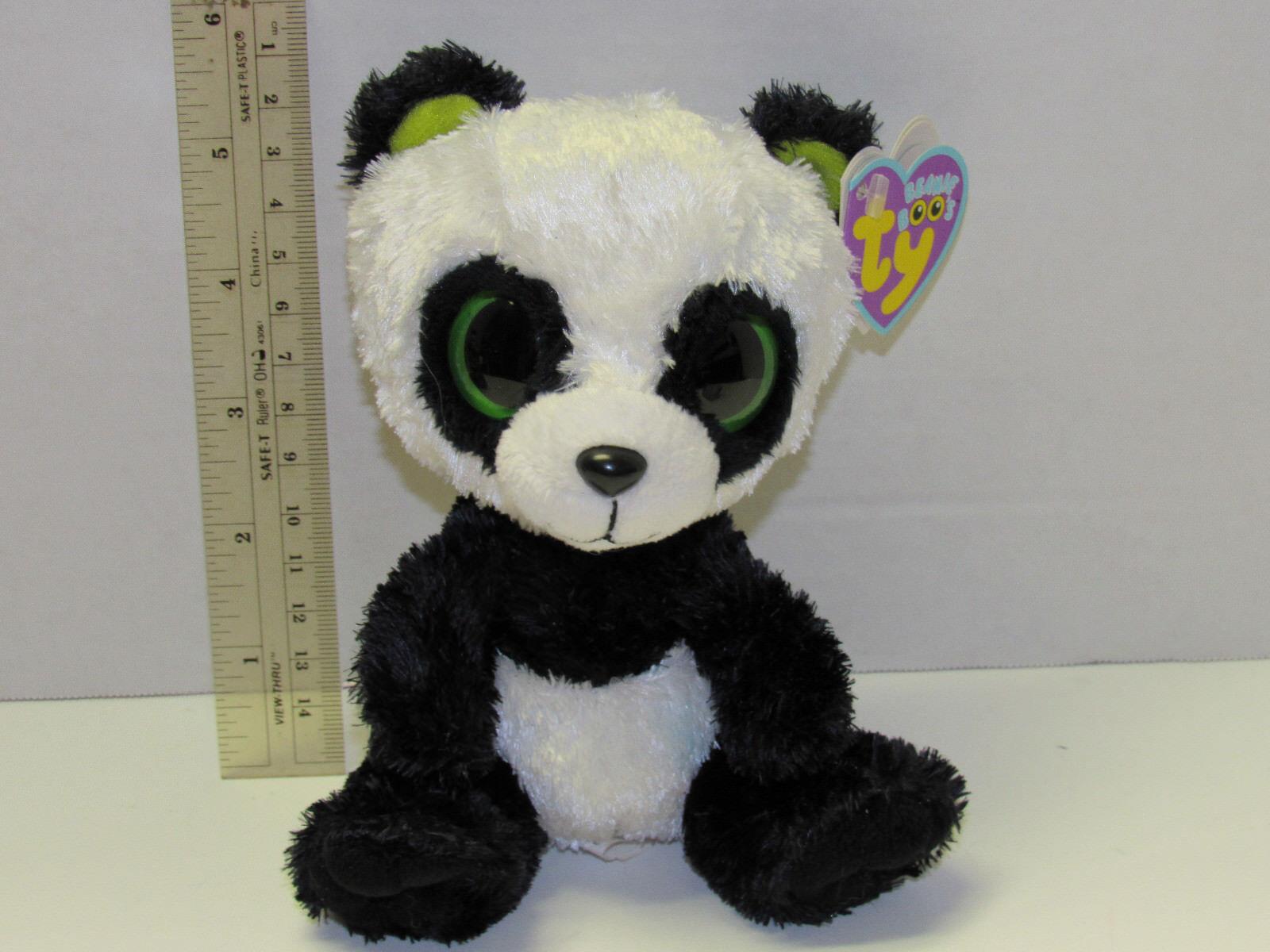 NWT AS IS RETIRED TY beanie Baby Boos Boos Boos Boo Bamboo Panda 6  NO Poem HTF 2013 5ad646