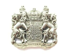 Bayern-Bavaria-Wappen-Magnet-Metall-Souvenir-Germany-Deutschland-Neu