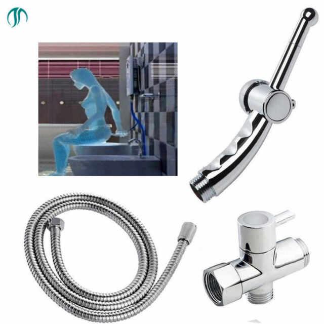 """G7//8/""""T-adapter Bidet Shattaf Kit for Toilet Attachment PP Diaper Sprayer Valve"""