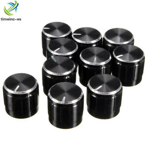 10PCS-Volume-Control-Rotary-Knob-For-6mm-Dia-Knurled-Shaft-Potentiometer-Durable