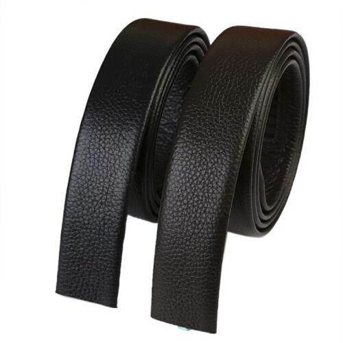 Men/'s Leather Belt Headless Double-sided Lychee strip Automatic Buckle WaistbaOI