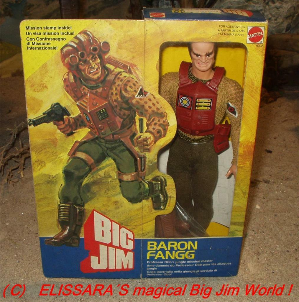 Big Jim -  Baron Fangg - Space Future  -  Neu   MIB - No 8302 - Mattel - Vintage