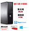 Dell-Quad-Core-PC-Rapide-Ordinateur-De-Bureau-Tour-Windows-10-WiFi-8-Go-1000-Go-DVDRW miniature 1