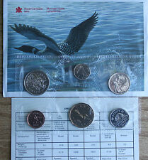1988 Uncirculated Canada 6 Coin RCM PL Set with Card and Envelope