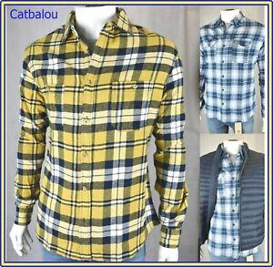 rivenditore di vendita 76cd0 e0596 camicia di flanella da uomo scozzese a quadri camicie boscaiolo ...