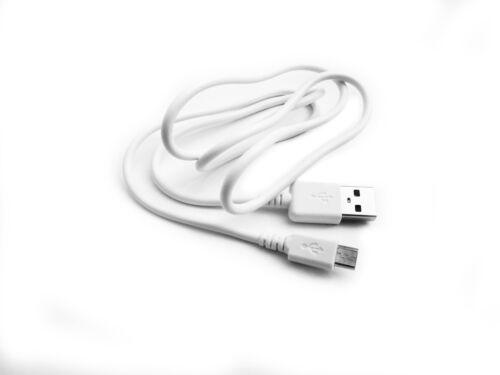 """90 Cm USB cable Blanco para Miniland Baby 89166 2.4/"""" padres unidad de monitor de bebé"""
