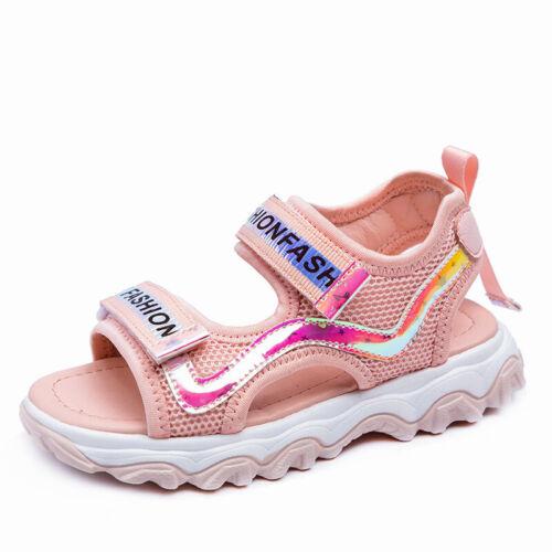 Kids Girls Open Toe Outdoor Sandals Summer Casual Beach Walking Shoes Comfort L