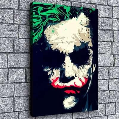 Heath Ledger Joker Painting Hd Print On Canvas Home Decor Room Wall Art 16 X24 Ebay