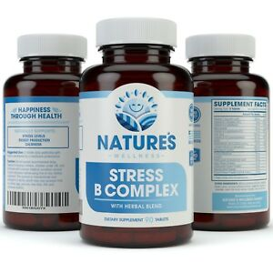 Details about Vitamin B Complex Stress Support - All Natural Anxiety Relief  - Mood Enhancer