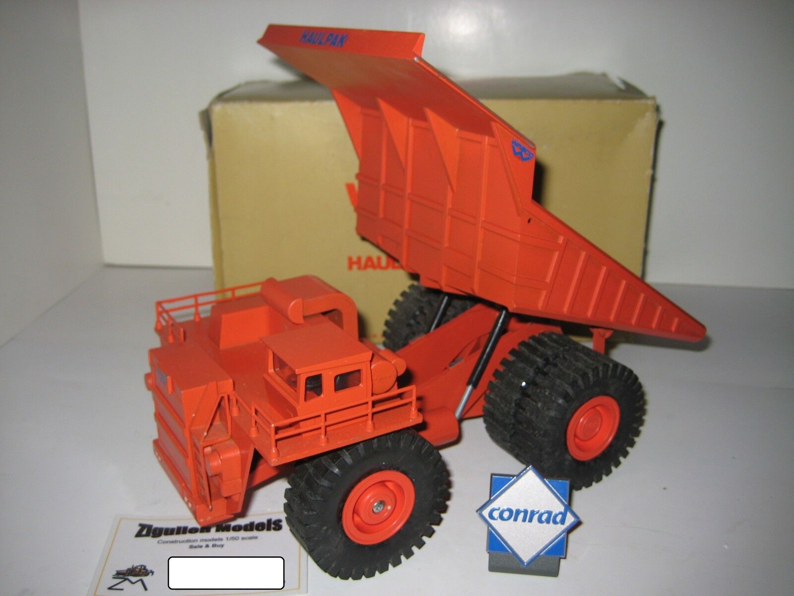 Wabco haulpak camiones de volteo rojo Gescha 1 50 OVP rareza