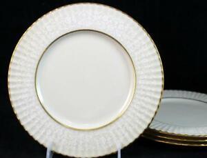 Lenox-China-CITATION-LACE-4-Salad-Plates-GREAT-CONDITION