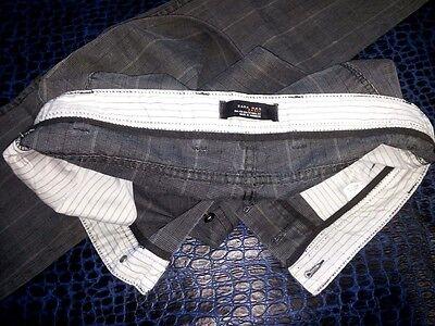 Pantaloni Uomo Cotone Quadri Quadretti Grigio Nero Zara Man