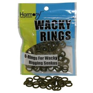 Green-Pumpkin-Color-O-Rings-For-Wacky-Rigging-Senko-Worms-100-pcs-4-amp-5-034-Senko