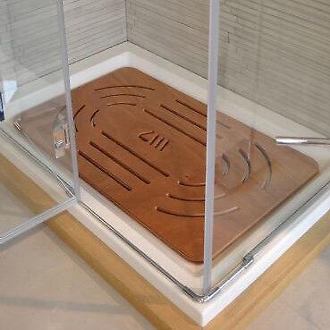 Pedana doccia legno marino okumé cm 96 x 57 per piatti 120 x 70-80