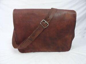 Unicorn-BROWN-Genuine-Vintage-Leather-MESSENGER-Bag-Laptop-Satchel-Shoulder