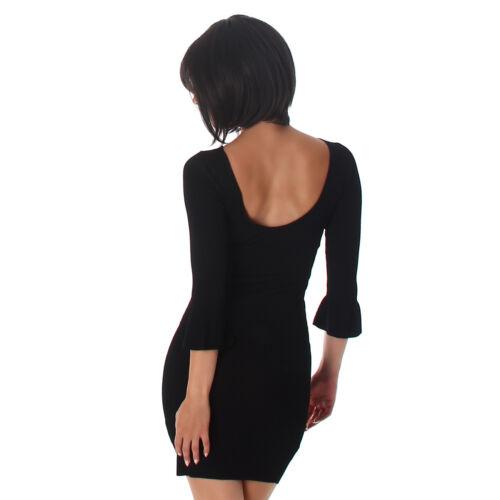 Kleid Pulloverkleid Mini Cocktailkleid Strickkleid 34 36 38 S M