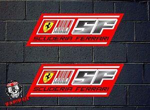 Details About Sticker Adesivi Aufkleber Sticker Decal X2 Scuderia Ferrari Laminated Show Original Title