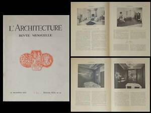 L'architecture 1932 Art Deco, Mongeaud, Salon D'automne, Dufrene Subes Sauvage