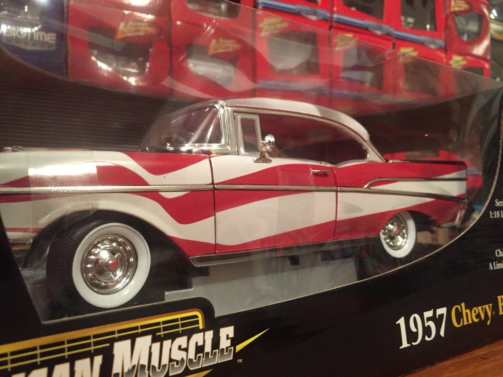 Ertl 1:18 1957 Chevy Bel Air American Flag Item 33987