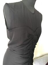 ISABEL MARANT * appena indossato * nero bellissimo abito da sera seta Taglia 40 francese