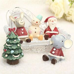 Christmas Decoration Wedding Gift : 1Pcs-Christmas-Wedding-Santa-Animals-Figurine-Figure-Decoration-Cute ...