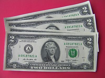 Uncirculated 2013 Series I $2 bill two dollar bank note Federal Reserve USA gift