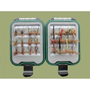 Hoppers,Trout Flies 18 x Olive Yellow /& Claret Mixed Size 10//12//14 Fishing Flies