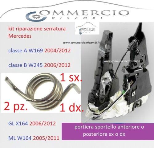 Serratura Molla Kit di riparazione A//P per Mercedes classe A W169 B W245 GL 164