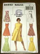 Vintage Butterick SEWING Pattern 4815 Misses Summer Dress UNCUT 6-22 EASY OOP FF