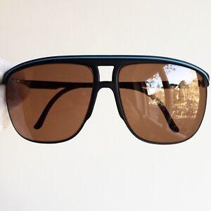 AgréAble Occhiali Da Sole Spalding Sunglasses Vintage Square Oversize Aviator Black Ski En Voyageant