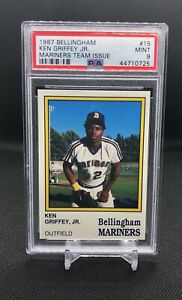 1987-Bellingham-Mariners-Ken-Griffey-Jr-Team-Issue-PSA-Mint-9-Centered-RC