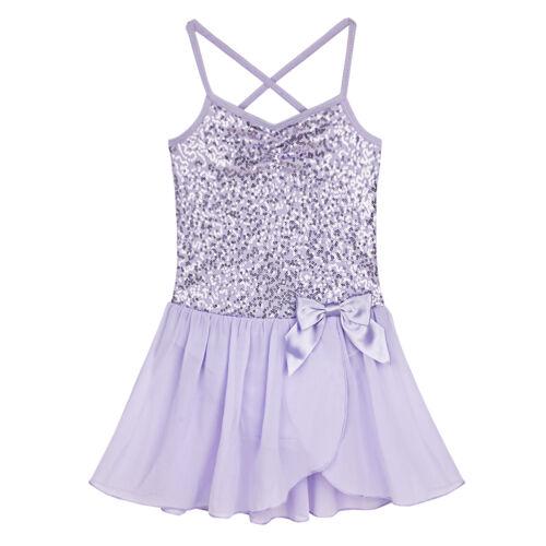Girls Toddler Ballerina Costume Skirt Ballet Dance Wear Leotards Gym Tutu Dress