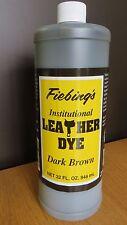FIEBING INSTITUTIONAL LEATHER DYE (WATER BASED)  946ML  LARGE BOTTLE - DK BROWN
