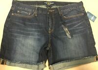 Women's Lucky Brand Mid Rise Easy Fit Abbey Cutoff Denim Jean Shorts 10/30