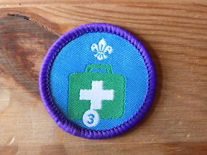 Emergency Aid 3 Current UK Scouting Proficiency//Activity Badge