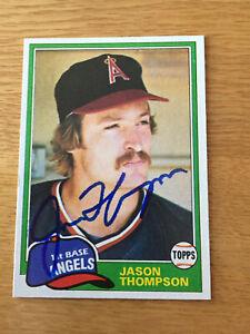 Angels Jason Thompson signed 1981 Topps card