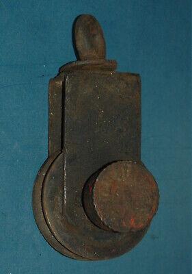 Alte Umlenkrolle System Staufer 5 Eisen Seilzug Flaschenzug