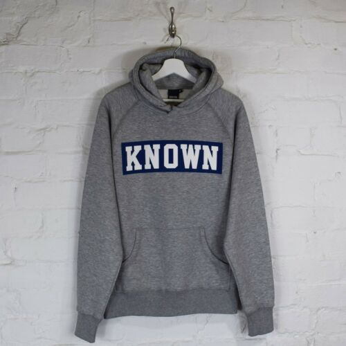 met capuchon Skater Grey Heather Blue Hoodie Urban Box Royal Logo Known qBHvPH