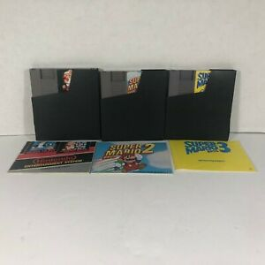 Original-NES-Mario-Bros-1-2-amp-3-Games-with-Manuals-amp-Dust-Protectors-Tested