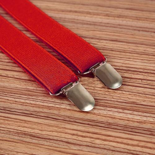 Men Brace Suspender Y Back Trousers Adult Leather Heavy Duty Clip On Fashion 1pc