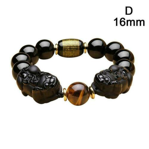 Feng Shui Natural Gold Obsidian Attract Wealth Bracelet B5H8