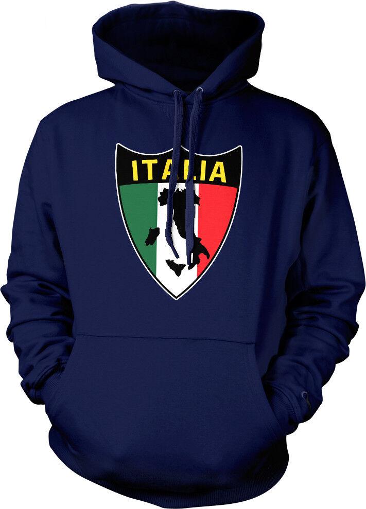 Italia Shape Country Shield Map colors  Italian Born ITA Hoodie Sweatshirt